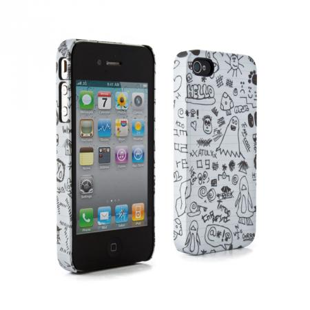 Fundas para iPhone 4 ideales para estudiantes - fundas-iphone-4-garabato