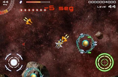 Juego de naves para iPad, Galaxy Survivor - galaxy-survivor-gameplay