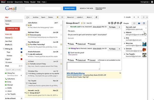 Gmail presenta nuevas formas de visualizar los correos mediante paneles. Te decimos cómo activarlo