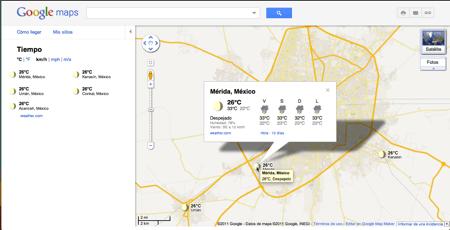 Google Maps se actualiza y ahora te muestran el clima - google-maps-clima