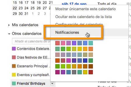 notificaciones google calendar Agregar recordatorios de cumpleaños de Facebook a Google Calendar