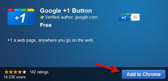 Instalar el botón +1 en Google Chrome y cómo usarlo. - +1-google-webadictos