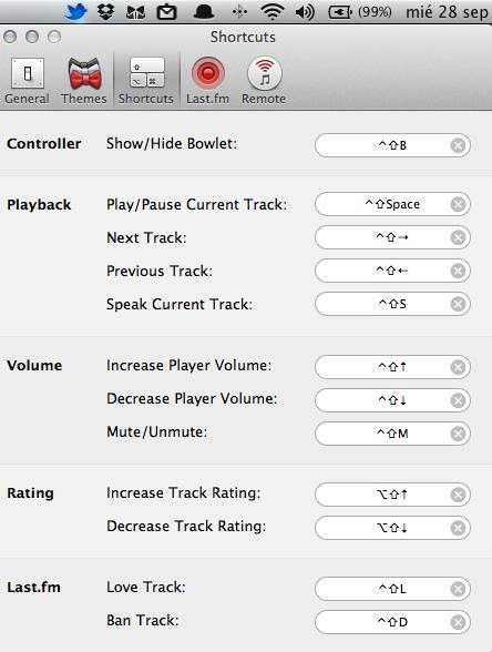 Bowtie mac4 Cómo mostrar la información de tu música en el escritorio con Bowtie (Mac)