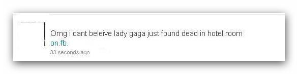 Video de la muerte de Lady Gaga anzuelo para nuevo fraude en redes sociales - Lady-gaga-fraude-twitter1