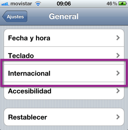 ajustes generale Como cambiar el idioma de dispositivo iOS (iPhone, iPod y iPad)