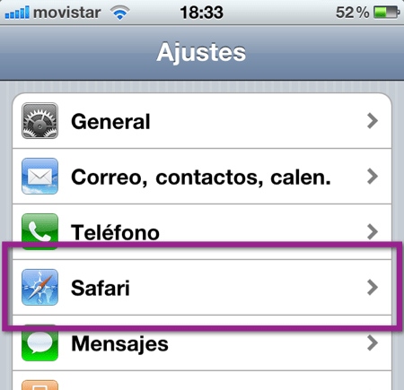 ajustes safari Como cambiar el buscador de Safari en un iPhone, iPod o iPad