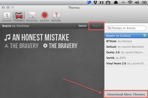 bowtie mac3 Cómo mostrar la información de tu música en el escritorio con Bowtie (Mac)