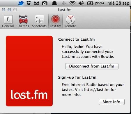 bowtie mac5 Cómo mostrar la información de tu música en el escritorio con Bowtie (Mac)