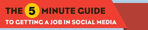 Como obtener un trabajo en Social Media en 5 minutos [Infografía] - empleo-de-social-media
