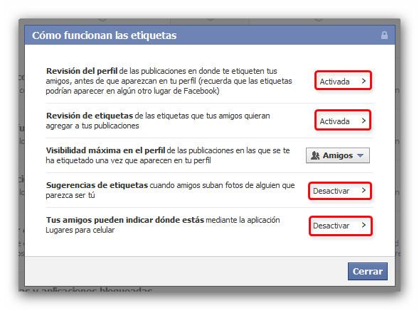 etiquetas facebook Cómo evitar que te etiqueten en fotos y publicaciones en Facebook
