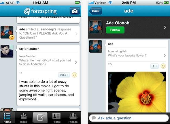 Formspring lanza su aplicación oficial para iPhone - formspring-iphone-app