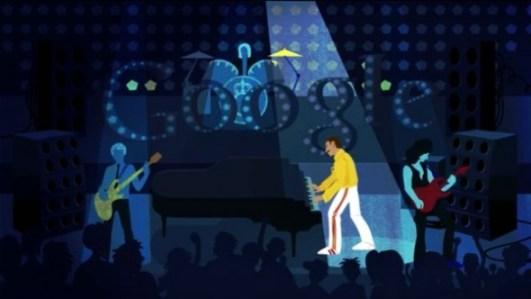Freddie Mercury homenajeado a lo grande por Google por medio de un Doodle - freddy-mercury-doodle-590x332