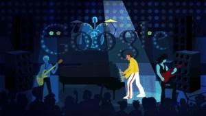 Freddie Mercury homenajeado a lo grande por Google por medio de un Doodle