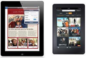 ¿Comprarías un iPad o un Kindle Fire?