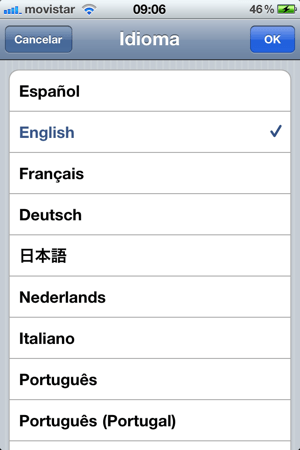 seleccionar idioma iphone Como cambiar el idioma de dispositivo iOS (iPhone, iPod y iPad)