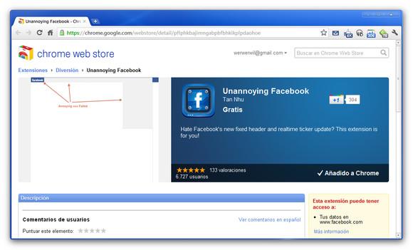 Cómo ocultar el molesto Ticker de Facebook - unannoying-facebook
