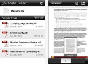Adobe Reader para iOS disponible para descargar