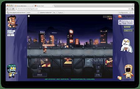 Monster Dash, un excelente juego dentro de la Chrome Web Store [Reseña] - Captura-de-pantalla-2011-10-31-a-las-08.58.58
