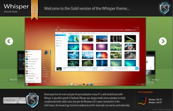 Tema whisper windows 7 Tres nuevos y sorprendentes temas para Windows 7