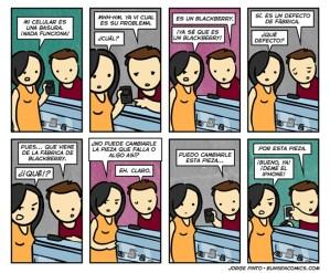 Blackberry, defecto de fábrica [Humor]