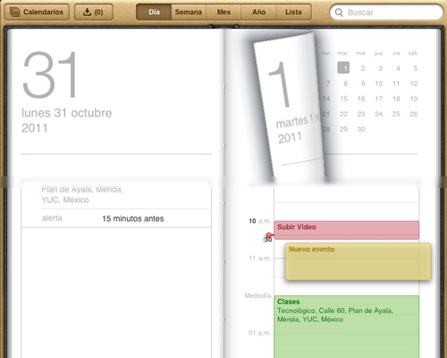 calendario ipad Novedades en las Apps de iOS 5 [Safari, Música, Calendario y Game Center]