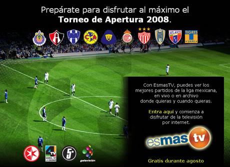 3cc5f019a2e21 Futbol mexicano en internet en Televisa