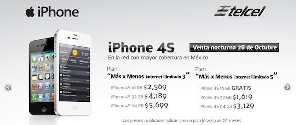 iphone 4s telcel Precios del iPhone 4S en Telcel [Actualizado]