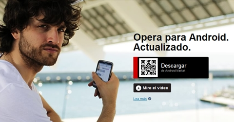 opera android qr Opera Mini 6.5 y Opera Mobile 11.5 para Android disponibles
