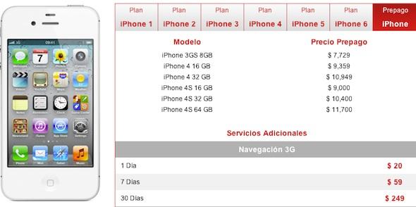 precios iphone 4s prepago iusacell Precios de iPhone 4S en Iusacell