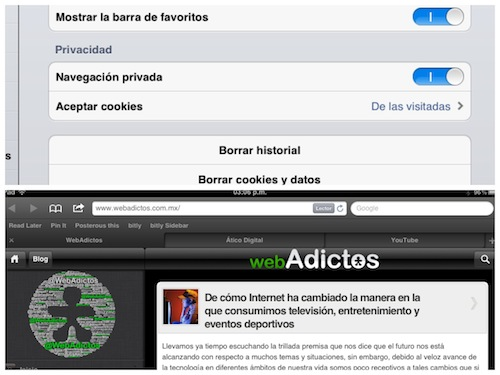 safari ios 5 ipad Novedades en las Apps de iOS 5 [Safari, Música, Calendario y Game Center]