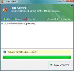 Desbloquear Archivos en Windows Vista con TakeControl