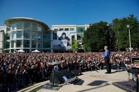 Una celebración de la vida de Steve, es publicado por Apple - tim_cook_steve_jobs_celebration