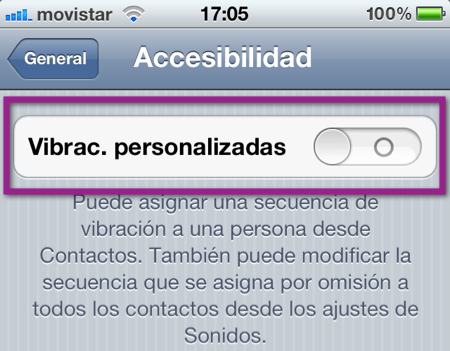 vibraciones iOS 5: Como activar y crear las vibraciones personalizadas de tu iPhone