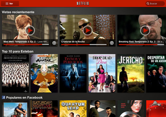 Netflix Android Tablet Netflix mejora su aplicación para tablets con Android