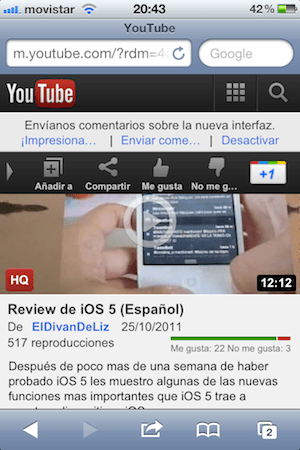 Un vistazo a la nueva versión móvil de YouTube para iOS - cosmic-panda-movil-youtube-ios