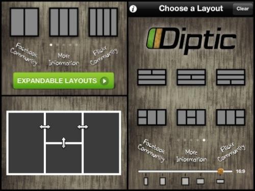 Diptic para iPhone y iPad, una increíble aplicación para crear imágenes fantásticas [Reseña] - diptic-expandable-layouts