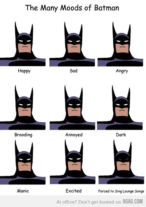 Los estados de ánimo de Batman [Imagen] - estados-animo-batman