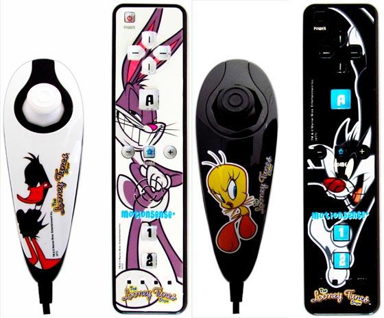 Divertidos mandos de los Looney Tunes para Wii - mandos-wii-looney-tunes