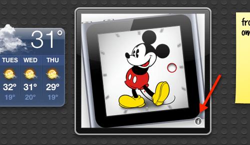 mickey reloj dashboard mac Agregar el reloj de Mickey Mouse del iPod Nano en tu Dashboard