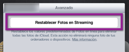 Como Restablecer Photostream y eliminar las fotografías de iCloud y tus dispositivos - restablecer-photostream