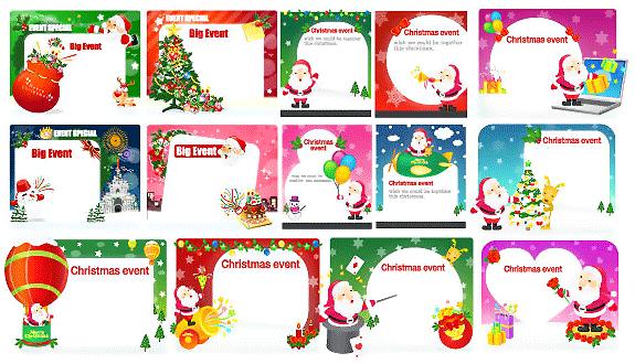 Colección de vectores de Navidad para tus diseños - christmas-card-in-vector