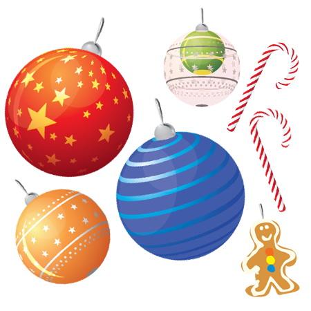 Colección de vectores de Navidad para tus diseños - christmas-vector-set1