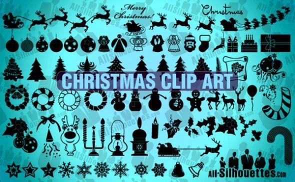 Colección de vectores de Navidad para tus diseños - christmasclipart-590x364