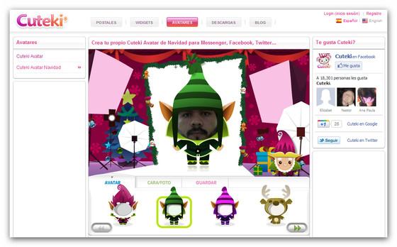 Crea tu avatar navideño para esta temporada decembrina - cuteki-avatar-navidad