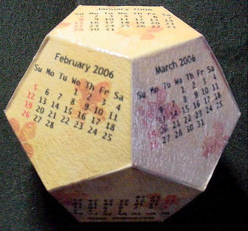 dodecahedron cube 2012 Calendarios 2012 para imprimir