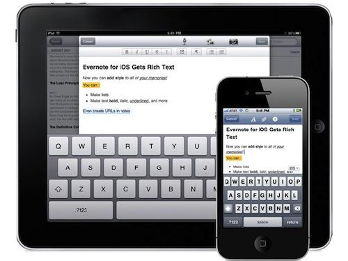 Comienza el 2012 organizando tu tiempo y pendientes con estas Apps gratuitas - evernote-ios-update