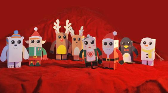 Colección con los mejores Paper Toys para Navidad - paper-toys-navidad