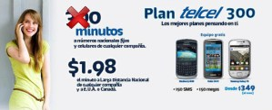 El Plan 300 de Telcel ofrece el doble de minutos esta temporada
