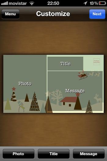 Envia postales a tus seres queridos con estas 4 apps para iOS en éstas fechas - postale-app-iphone