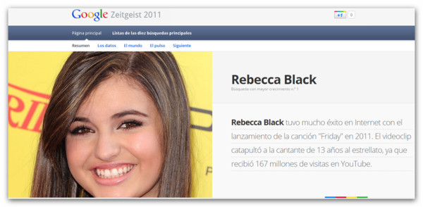 Lo mas buscado en Google a lo largo del año, Google Zeitgeist 2011 - rebecca-black-zeitgeist